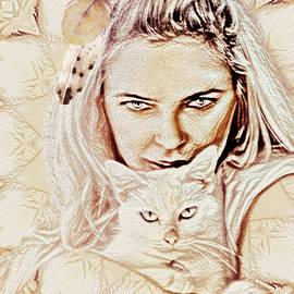 Cat Lady by KaFra Art
