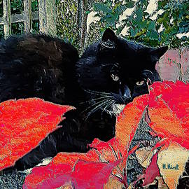 Cat On A Hot Leaf roof by Nigel Hirst