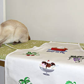 Cat on Ironing Board by Sally Weigand