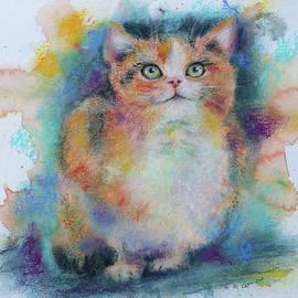 Cat portrait by Karen Kaspar