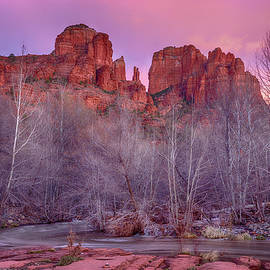 Cathedral Rock Sunset by Stephen Stookey
