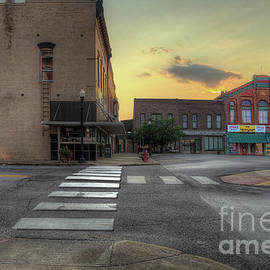 Catron Opera House at Dusk  by Larry Braun
