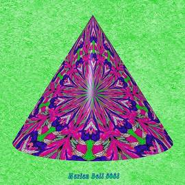 Cats Love Their IM Knights Kaleidoscope 2 - 3D Cone Shape by Marian Bell