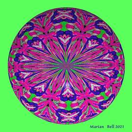 Cats Love Their IM Knights Kaleidoscope 2 -  3D Orb by Marian Bell