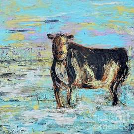 Cattle in Snow by Patty Donoghue
