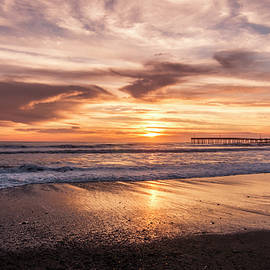 Cayucos Beach California Sunset by Patti Deters