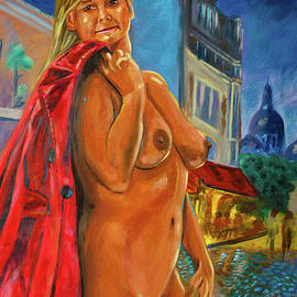 Cecile walks around naked in Montmartre by Pictor Mulier