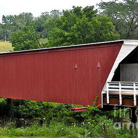 Cedar Bridge In Iowa by Linda Brittain