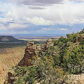 Cedar Mts Desert View Grand Canyon Artistic by Chuck Kuhn