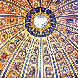 Ceiling Of The Great Dome, St. Peter's Basilica by Douglas Taylor
