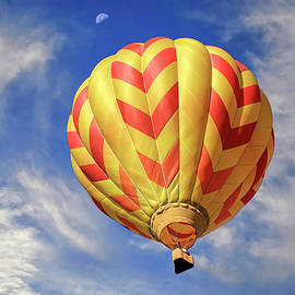 Celebration Balloon with Half Moon by Donna Kennedy