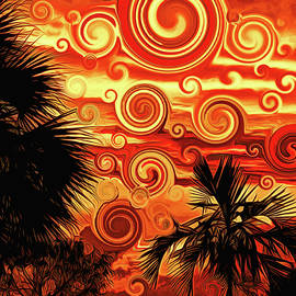 Celestial Sunset by Maria Keady
