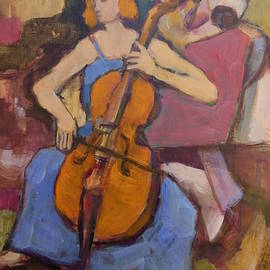 Cellistin for Modigliani by Alfons Niex