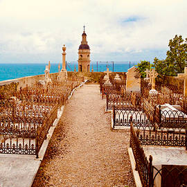 Cemetery of the Old Chateau, Menton, France. by Joe Vella