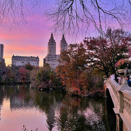 Central Park at Sunset - Prints Puzzles and More by Miriam Danar