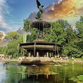 Central Park Fountain by Geraldine Scull
