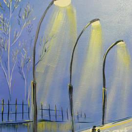 Central Park Rainy Night by Janice Pariza
