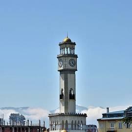 Chacha clock tower fountain and gardens by Black Sea coast Batumi Georgia by Imran Ahmed