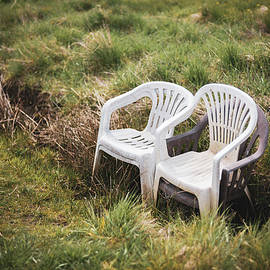Chairs in the meadow by Martin Vorel Minimalist Photography