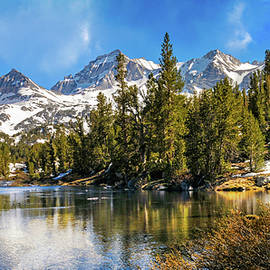 Changing Seasons in Little Lakes Valley Pano by Lynn Bauer