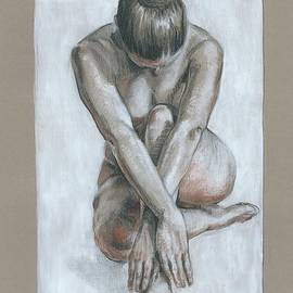 Charcoal nude drawing by Katarzyna Gagol