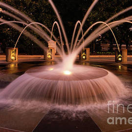 Charleston Fountain Daybreak by Norma Brandsberg
