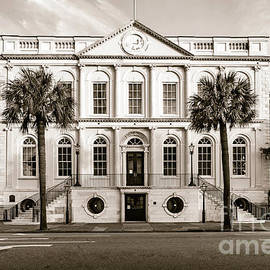 Charleston Town Hall in Sepia by Norma Brandsberg