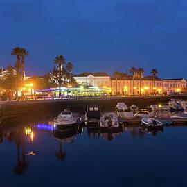 Charming Faro Algarve Portugal - Silky Blue Hour at the Waterfront by Georgia Mizuleva