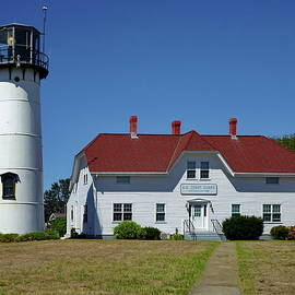 Chatham Light and Coast Guard Station by Lyuba Filatova