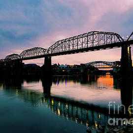 Chattanooga River Sunset by Norma Brandsberg