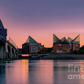 Chattanooga Tennessee River Sunset by Norma Brandsberg