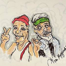 Cheech And Chong  by Geraldine Myszenski
