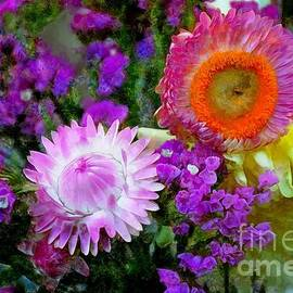 Cheerful Purple Dahlias and Asters by Sea Change Vibes