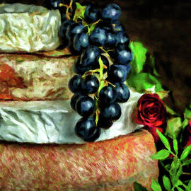 Cheese, Fruit and Roses by Susan Maxwell Schmidt