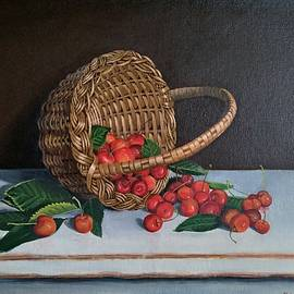Cherry Basket by Pushpendra Singh Mandloi