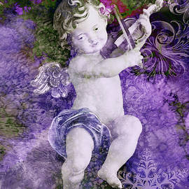 Cherub with a Violin  by Grace Iradian