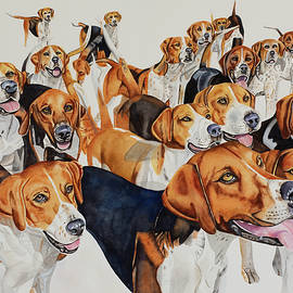 Cheshire Foxhounds by Kimberly Lavelle