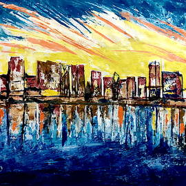 Chicago  Skyline by Anand Swaroop Manchiraju