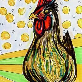 Chicken Pop Art  by Patty Donoghue