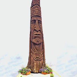 Chief Little Owl - The Bethany Beach DE Totem Pole by Allen Beatty