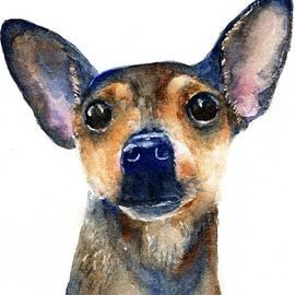 Chihuahua Love by Carlin Blahnik CarlinArtWatercolor