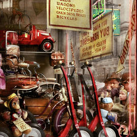 Children - Daddy I want a velocipede 1940 by Mike Savad