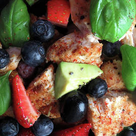 Chili Chicken With Berries And Avocado by Johanna Hurmerinta