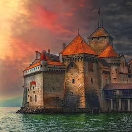 Chillion Castle - Veytaux - Switzerland L A S by Gert J Rheeders
