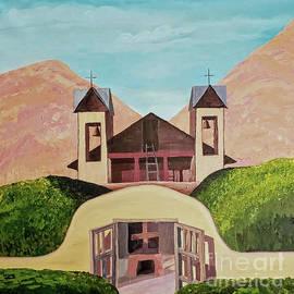 Chimayo Adobe Mission NM by Escudra Art