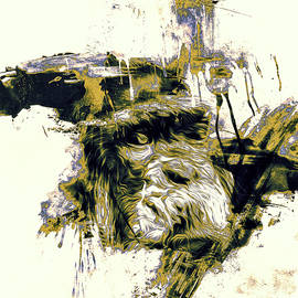 Chimpanzee Art  by Darren Wilkes
