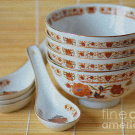 Chinese Bowls and Spoons by Yvonne Johnstone