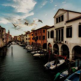 The grand canal of Chioggia Italy by Rita Di Lalla