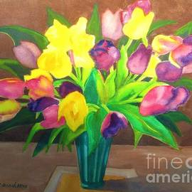 Chocolate and Tulips by Kathy Braud