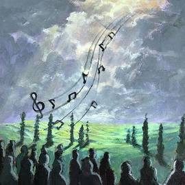 Choir Of The Blue Song Turns To Joy by Randy Burns